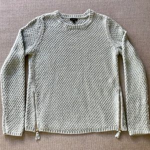 Talbots Knit Sweater with zipper accents at waist